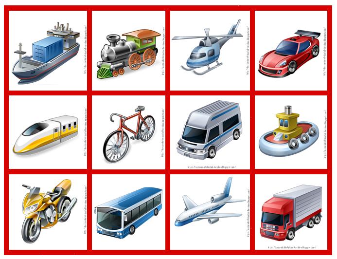 Dibujos de Medios de transporte - Dibujos para pintar