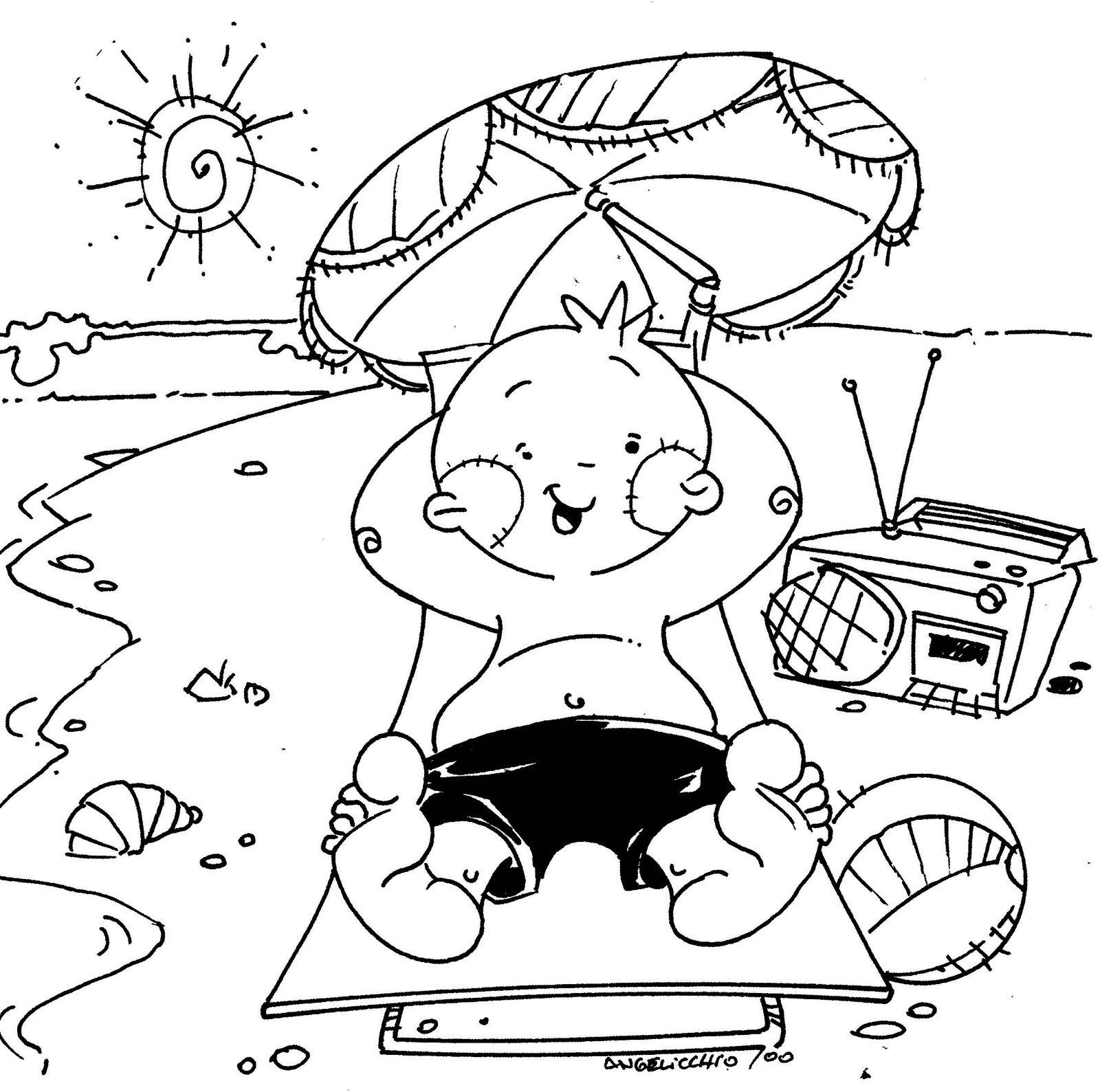 Encantador Niños De Verano Para Colorear Festooning - Dibujos Para ...