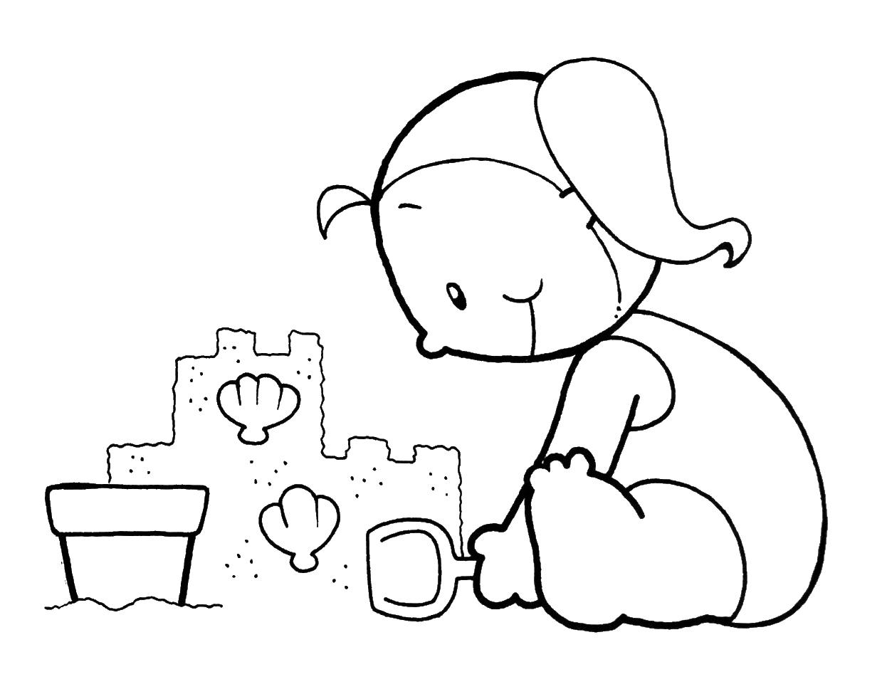 Dibujos para colorear de verano infantiles - Imagui