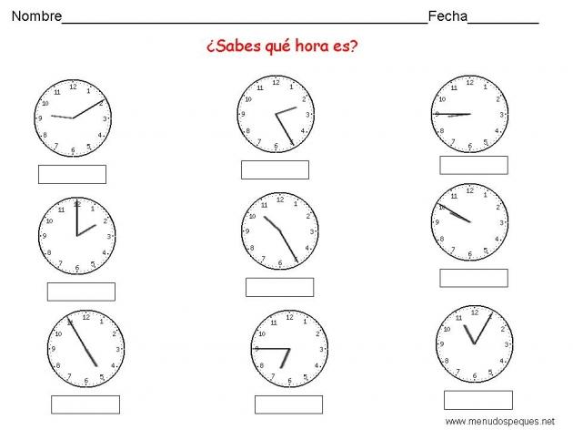 Aprender las horas -