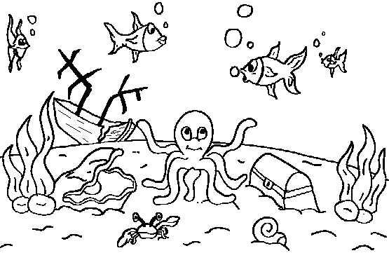Dibujos De Animales Del Mar: Bajo El Mar: Dibujos, Recortables Y Posters De Animales