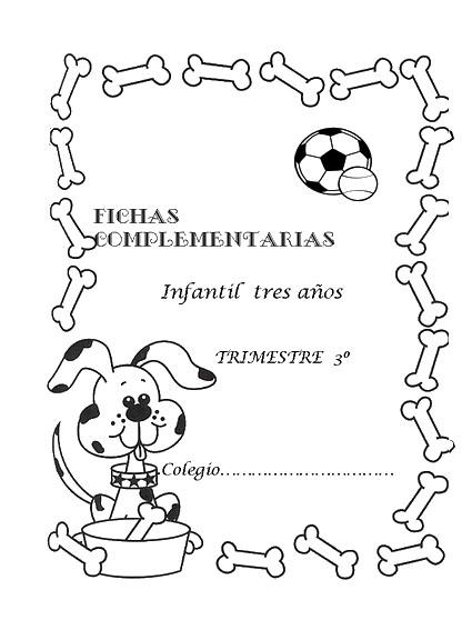 Caratulas para niños para colorear - Imagui