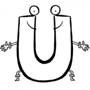 Letras del abecedario para colorear escuela en la nube - Dibujos en la pared infantiles ...