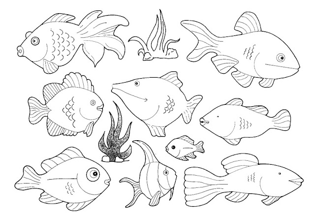 Bajo el Mar: Dibujos, recortables y posters de animales marinos