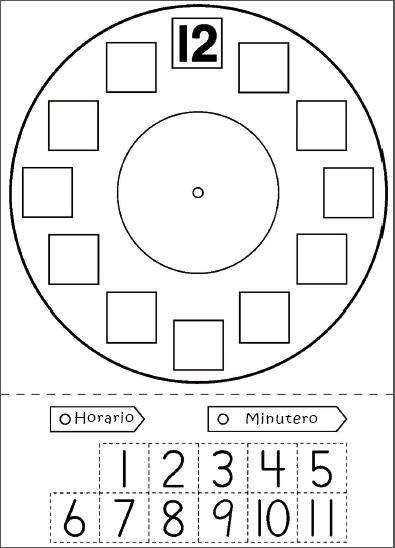reloj para niños dibujo