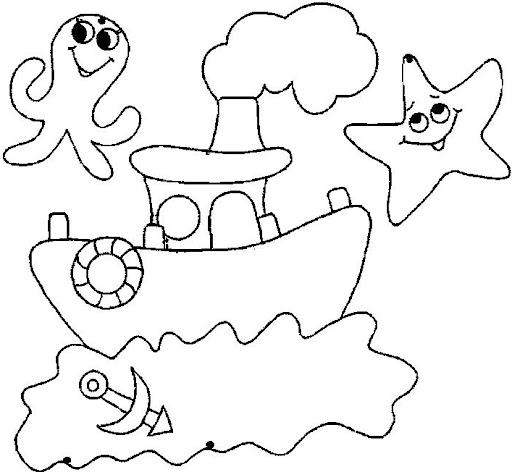 Bajo El Mar Dibujos Recortables Y Posters De Animales Marinos