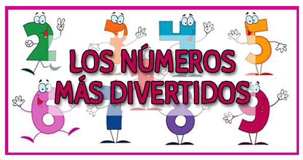 números divertidos, números graciosos, números para colorear