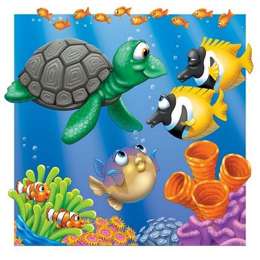 Bajo el mar dibujos recortables y posters de animales - Imagenes animales infantiles ...
