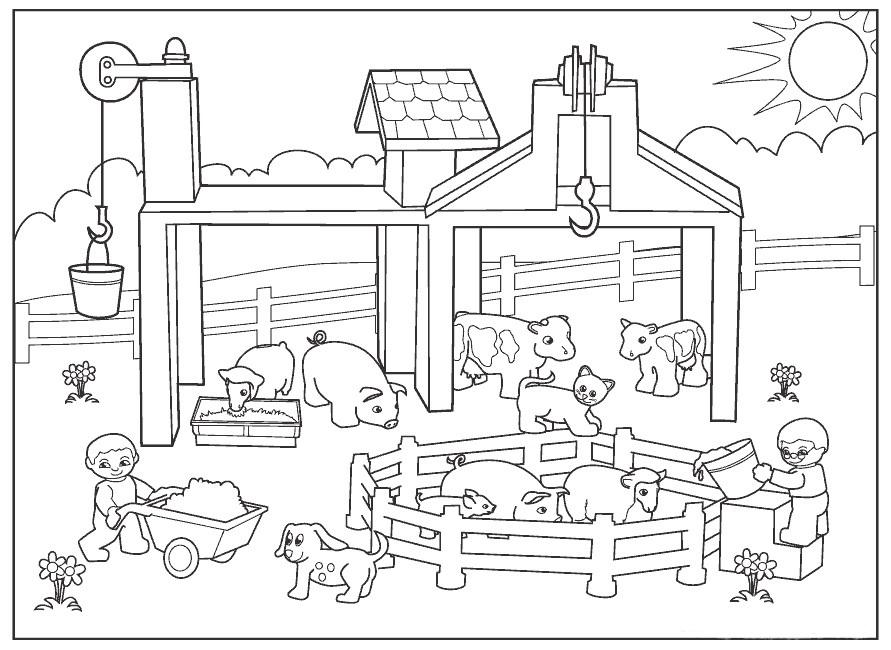 Animales de Granja para colorear | Escuela en la nube | Recursos