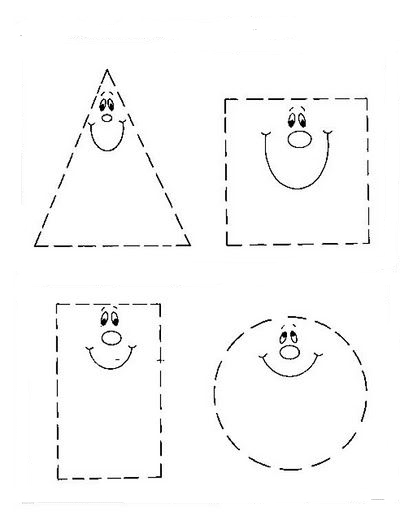 figuras geometricas para colorear y recortar imagui