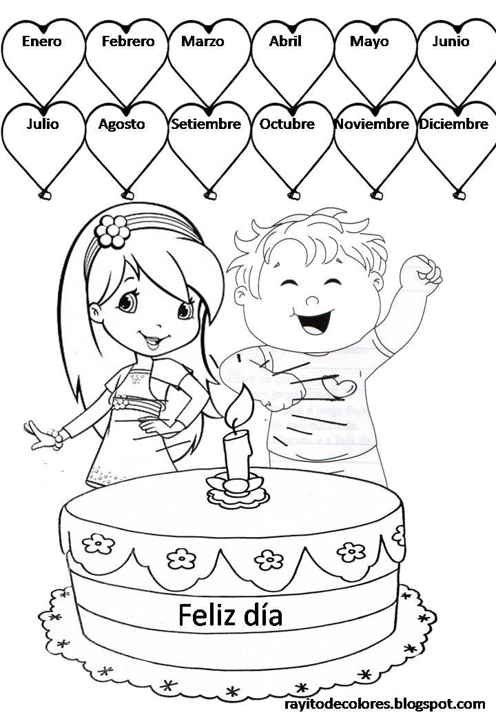 FELIZ CUMPLEAÑOS !! Para decorar la clase con los cumpleaños