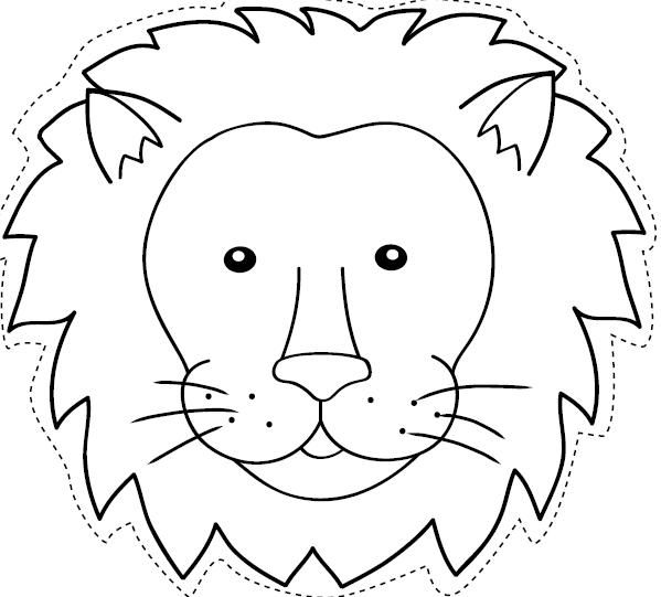 Caretas de animales salvajes para colorear - Imagui