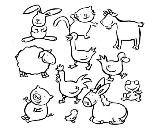 Animales de Granja para colorear