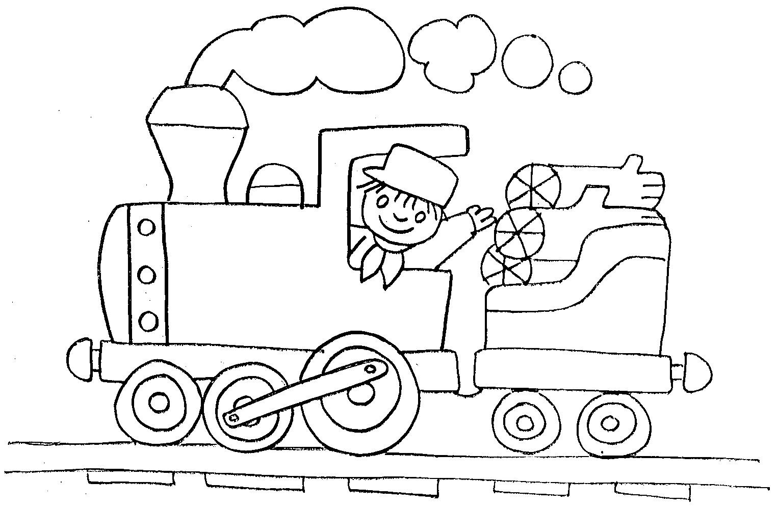 Dibujos para colorear de transportes: Coches, barcos, trenes, aviones.