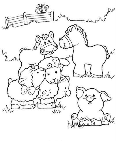 Animales De La Granja Para Colorear Escuela En La Nube