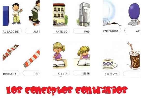 los conceptos en infantil