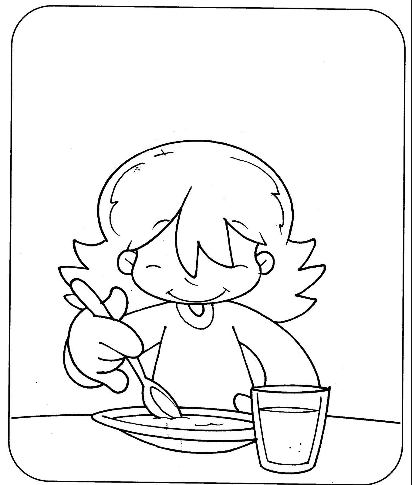 El comedor para colorear - Imageneitor