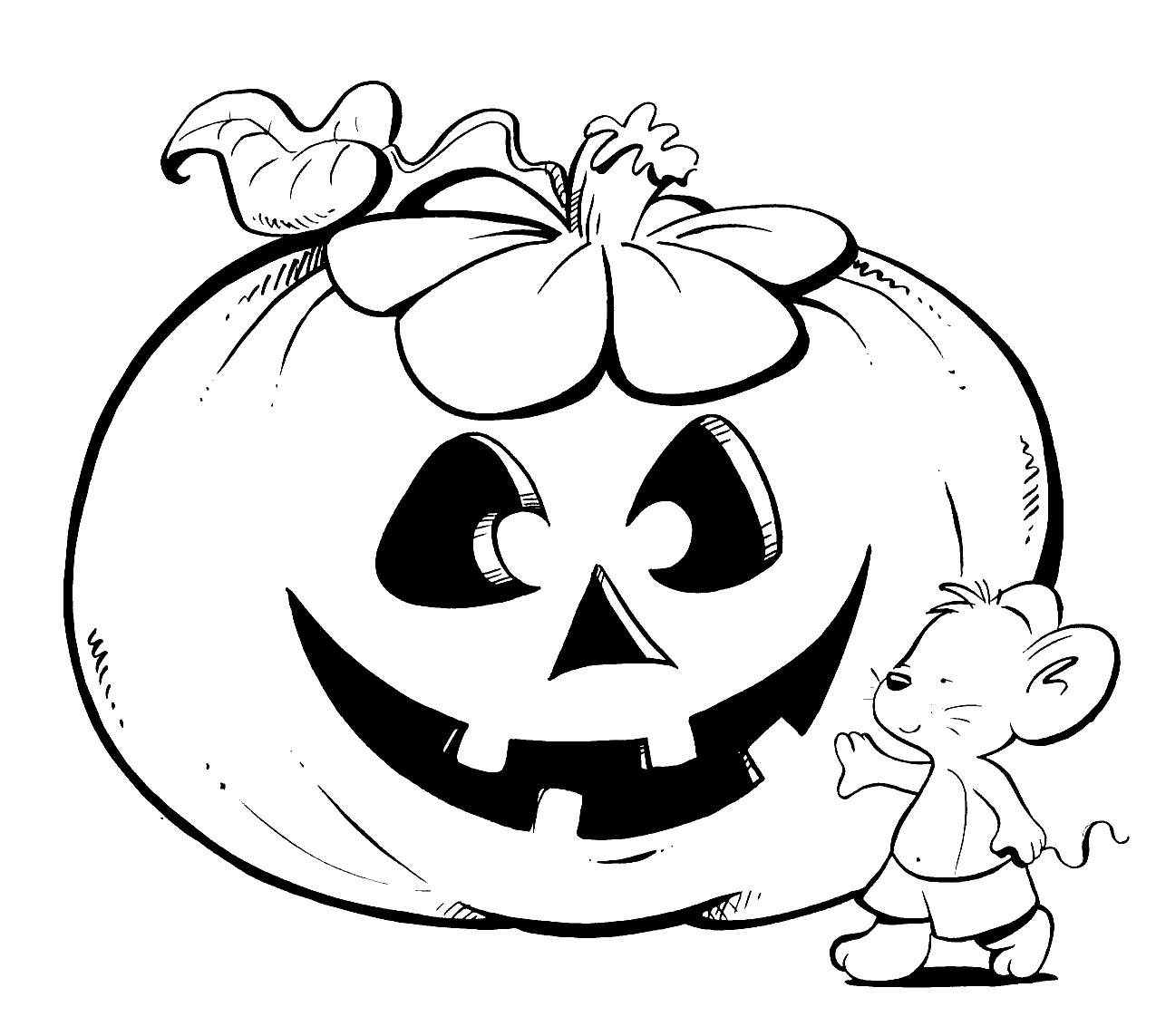 Dorable Páginas Para Colorear De Halloween Para Niños Mayores ...