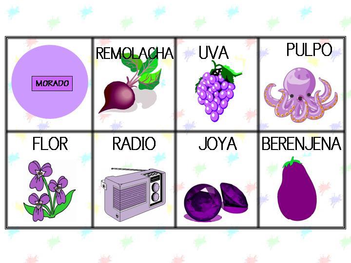 Los colores. Fichas para aprender y repasar