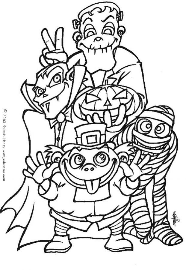 Llega Halloween !! Dibujos para colorear en Halloween | Escuela en ...