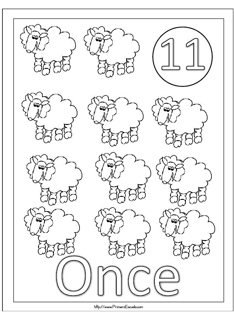 Numero 11 para imprimir y colorear - Imagui