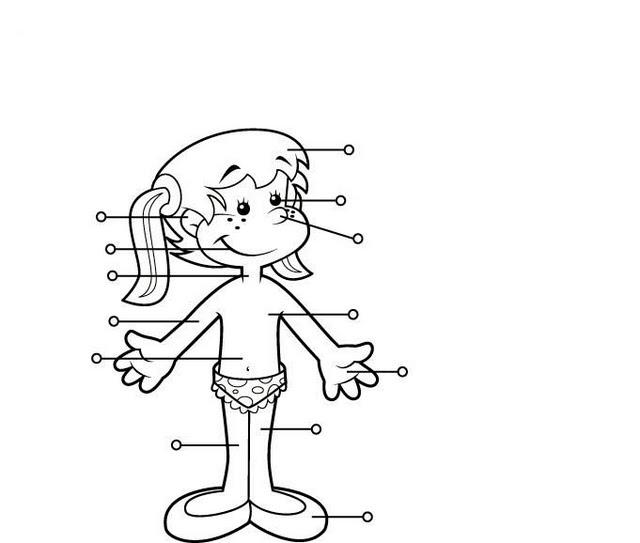 Imágen de un cuerpo humano de un niño para colorear - Imagui