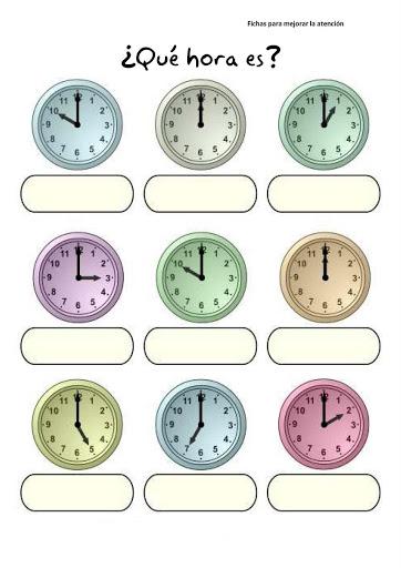 Ejercicios Para Reloj Con Del Fichas Aprender Primaria Las En Horas bvYy7f6g
