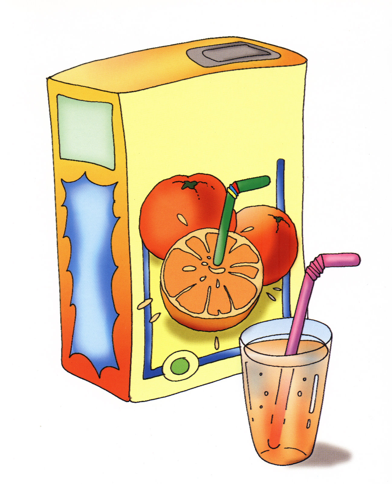 Прикольные картинки, сок в картинках для детей