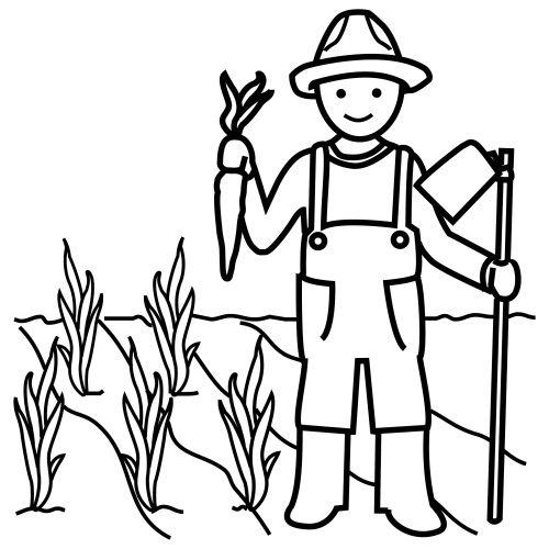 Imágenes de agricultores para colorear - Imagui