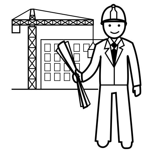 Рисунок мой папа строитель