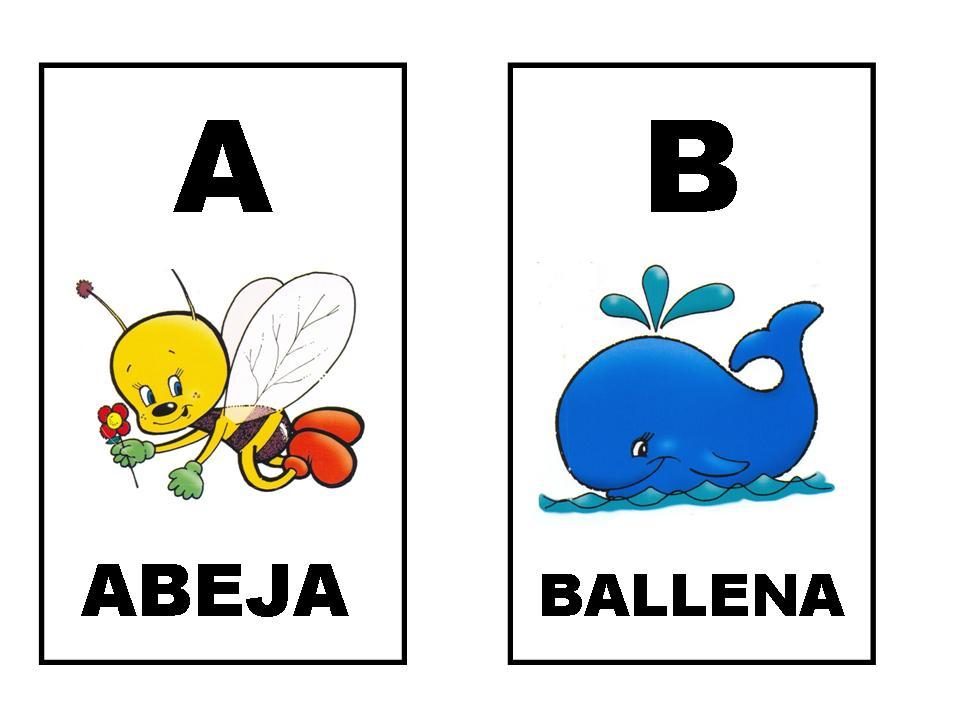 Fichas para repasar el abecedario