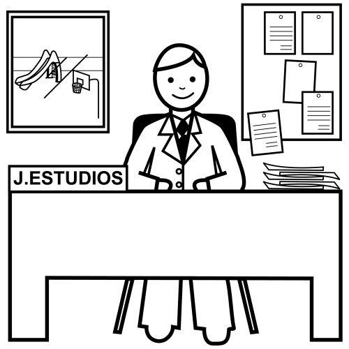 Jefe de estudios for Dibujo de una oficina moderna