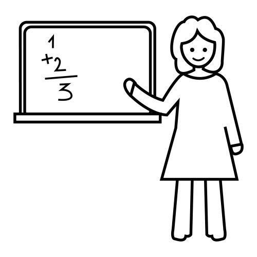 Maestra dibujo para colorear - Imagui