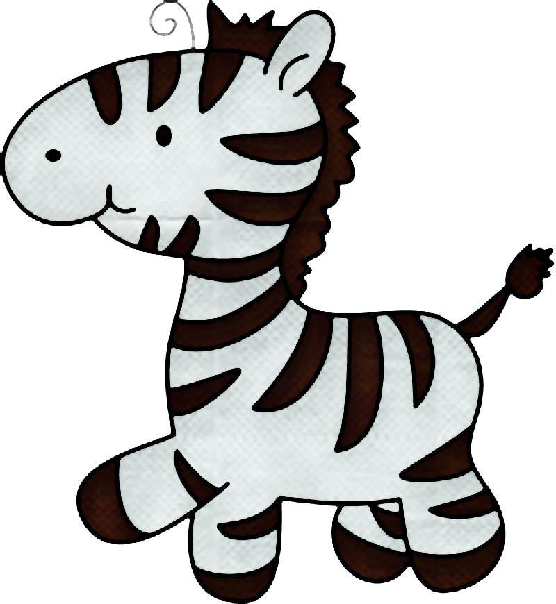 Cartoon zebra head