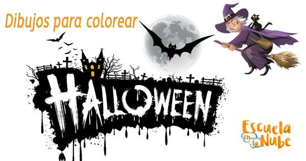 Dibujos para colorear en Halloween