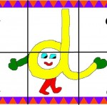 d 150x148 Crea entretenidos puzzles con las letras del abecedario