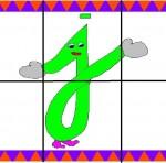 j 150x148 Crea entretenidos puzzles con las letras del abecedario