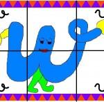 w 150x148 Crea entretenidos puzzles con las letras del abecedario