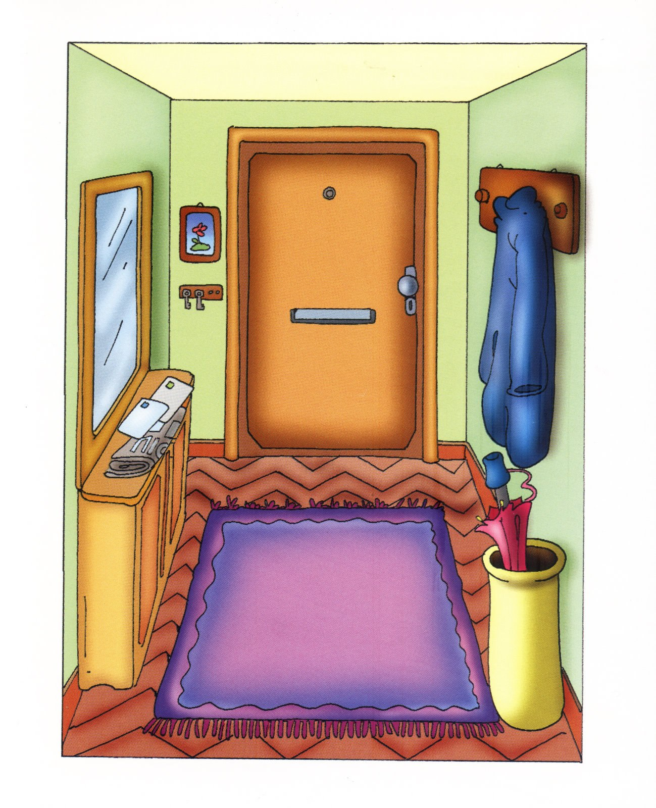 Partes de la casa for Dormitorio para dibujar