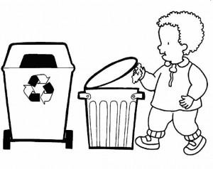 Enseñar A Los Niños A Reciclar Fichas Para Colorear