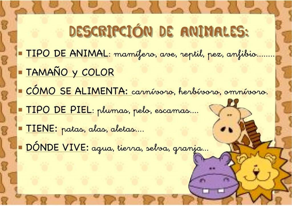 Describir animales