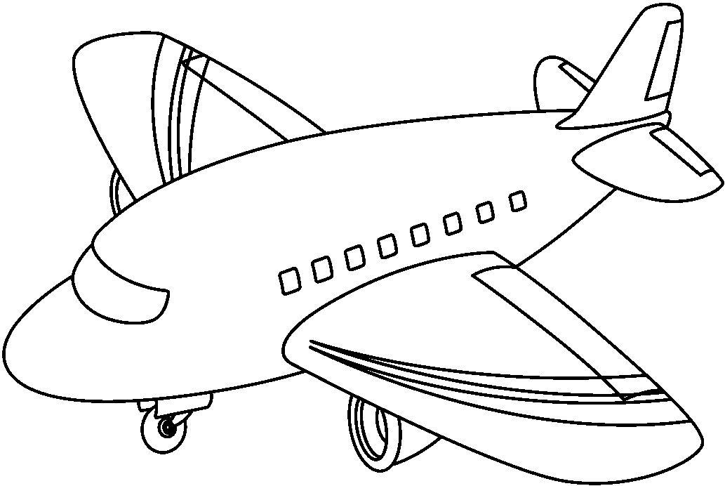 Transportes por aire para colorear