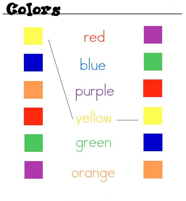 colors, colores en ingles