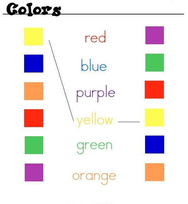colors, colores en ingles