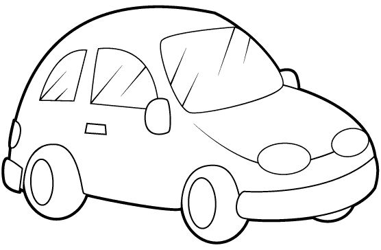 Imagen para colorear de un carro - Imagui