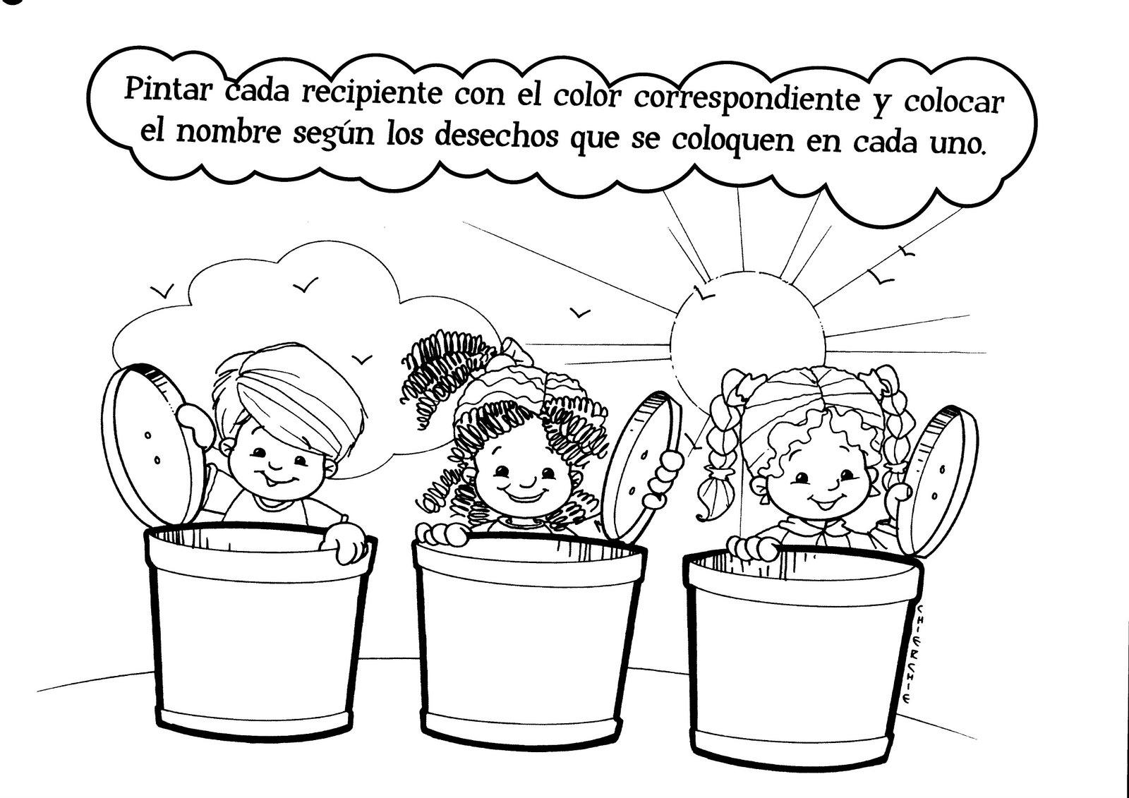 Dibujos Para Colorear De La Contaminacion