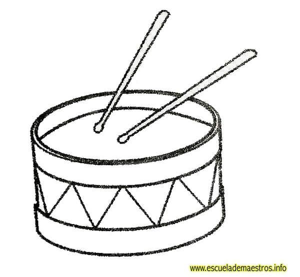 DIBUJOS instrumentos musicales para colorear con nombres - Imagui