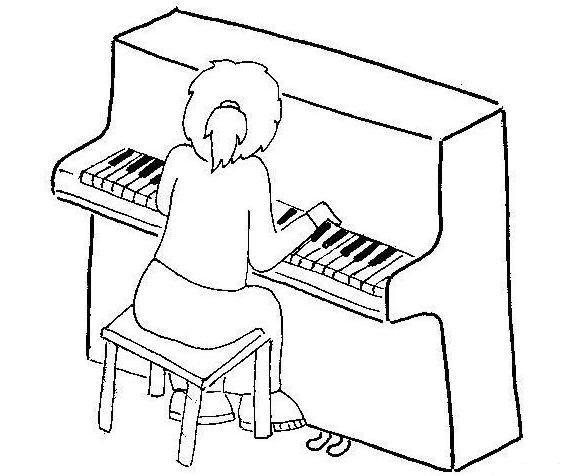 Пианино картинка раскраска