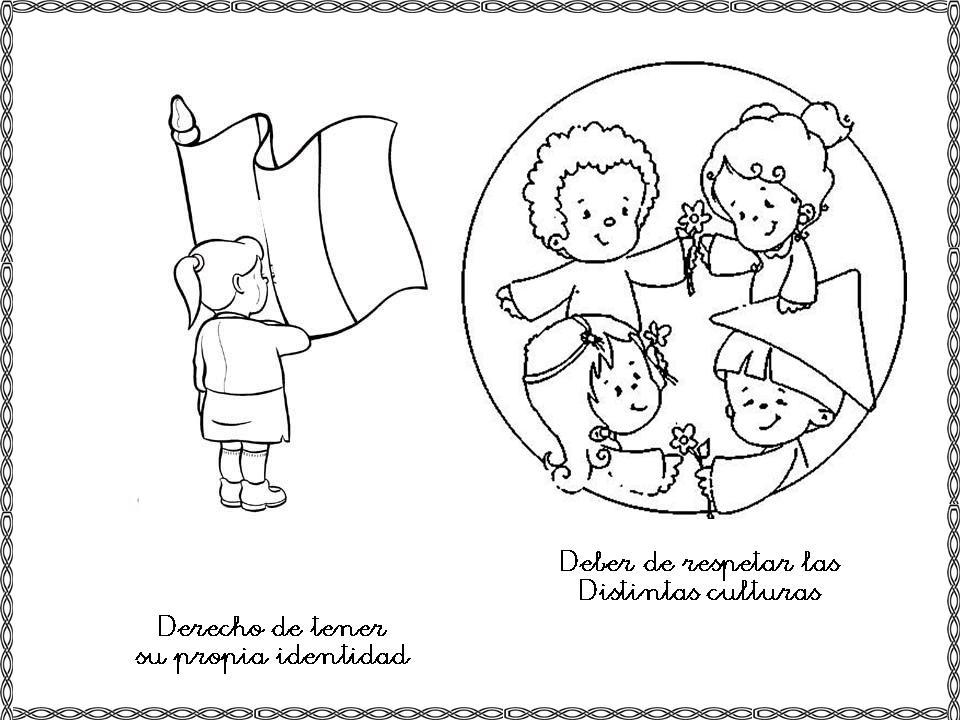 Imagenes para colorear de los derechos y deberes de los niños - Imagui