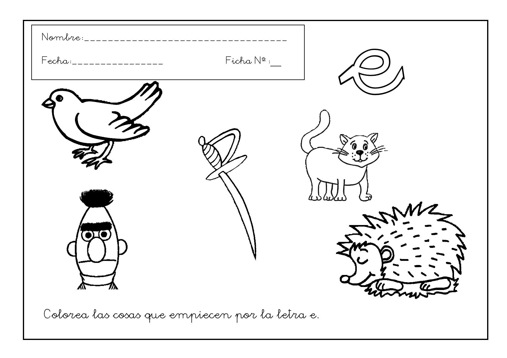 Grafomotricidad: Trabajar la letra E - Escuela en la nube